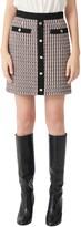 Maje Metallic Tweed Miniskirt