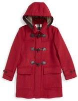 Burberry 'Mini Burwood' Wool Toggle Coat (Little Girls & Big Girls)