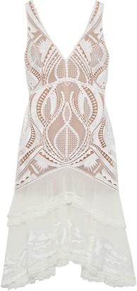 Jonathan Simkhai Tiered Embroidered Tulle-paneled Macrame Lace Dress