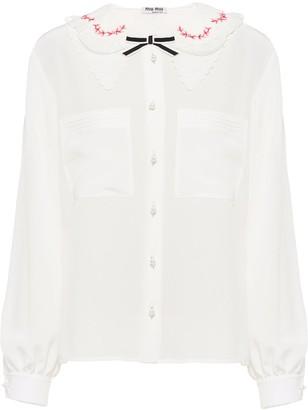 Miu Miu Crepe De Chine Shirt