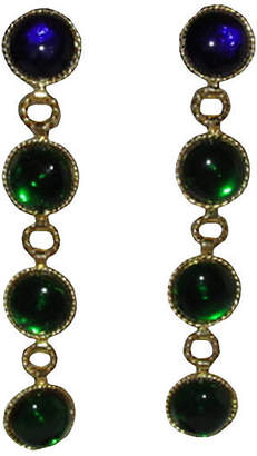 One Kings Lane Vintage Chanel Gripoix Glass Drop Earrings - Treasure Trove NYC