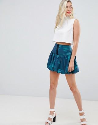 Asos DESIGN mini puffball skirt in two tone fabric