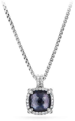 David Yurman Châtelaine Faceted Lavender Amethyst & Hematite Pendant Necklace with Diamonds