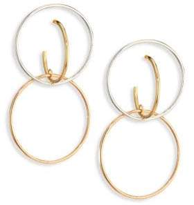 Charlotte Chesnais Galilea Medium Tri-Tone Drop Earrings