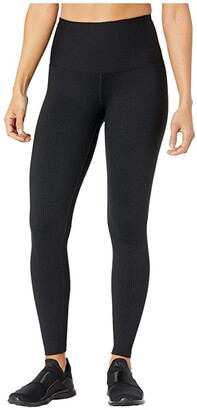 YEAR OF OURS Ribbed High High Leggings (Black) Women's Casual Pants