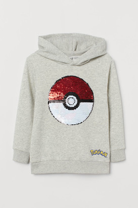 H&M Hoodie with Sequins - Gray