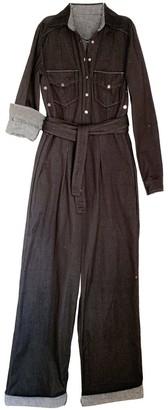 Leim Toilet Friendly Boilersuit Black Organic Cotton + Gingham Tencel