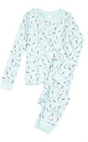 Tucker + Tate Girl's Glow In The Dark Two-Piece Fitted Pajamas
