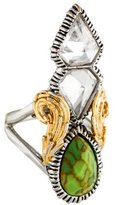 Alexis Bittar Two-Tone Crystal Cocktail Ring