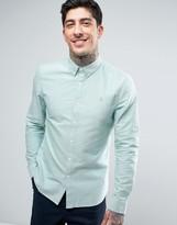 Farah Brewer Oxford Shirt Slim Fit Buttondown in Pine Green