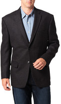 Haggar Tailored Sport Coat - Blue Check Lambswool - Classic Fit