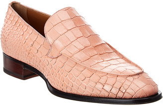 Giuseppe Zanotti Croc-Embossed Leather Loafer