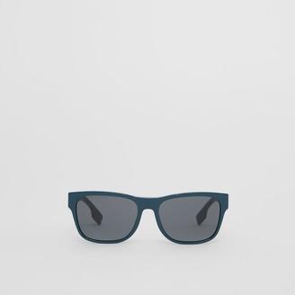Burberry Logo Applique Square Frame Sunglasses