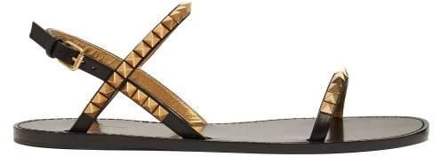 ce94e64ec Valentino Rockstud Flat Sandal - ShopStyle