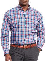 Polo Big And Tall Plaid Poplin Long Sleeve Shirt