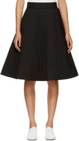 Noir Kei Ninomiya Black Padded Wool Skirt