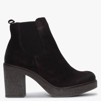 Alba Moda Brown Suede Chelsea Boots