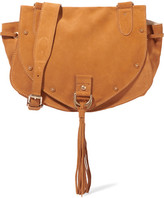 See by Chloe Collins Medium Suede And Textured-leather Shoulder Bag - Tan