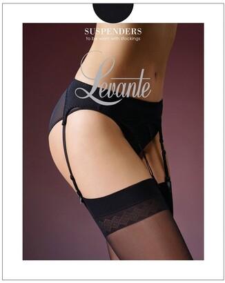 Levante Smooth Line Suspender belt Black S/M