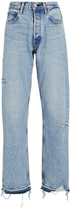 Moussy Brookline Wide Straight-Leg Jeans
