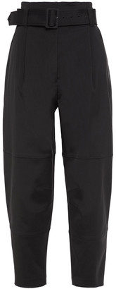 A.L.C. Cropped Belted Woven Tapered Pants