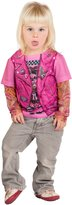 Faux Real Toddler Pink Biker Girl Tattoo Costume Shirt