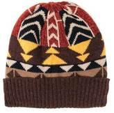 Muk Luks Women's Colorblock Geo Knit Cuff Cap