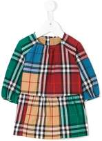 Burberry colour-block plaid dress