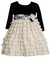 Bonnie Jean Girls' 2T-4T Black/Ivory Tiered Dress