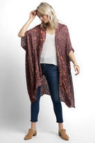 Elizabeth Gillett Tie-Dye Lurex Plaid Kimono