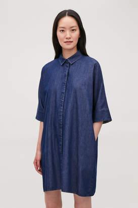 Cos BOXY DENIM SHIRT DRESS