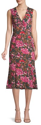 Fame & Partners The Bianca Floral Midi Dress
