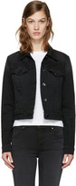 J Brand Black Denim Harlow Trucker Jacket
