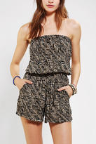 Angie Printed Strapless Romper
