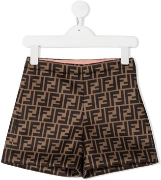 Fendi Kids FF pattern shorts