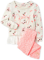 Juicy Couture Girls 4-6x) 2-Piece Floral Top & Leggings Set