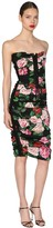 Dolce & Gabbana Floral Printed Lace Up Midi Dress