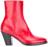 A.F.Vandevorst zipped ankle boots - women - Leather/Sheep Skin/Shearling - 37