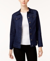 Alfred Dunner Petite Embroidered Denim Jacket