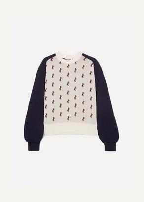 Chloé Studded Jacquard-knit Sweater - Ivory