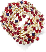 INC International Concepts Gold-Tone Berry Beaded Coil Bracelet, Only at Macy's