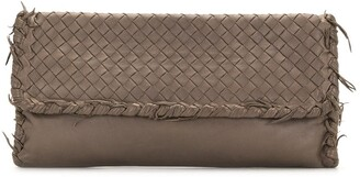 Bottega Veneta Pre-Owned Intrecciato flap clutch