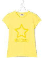 Moschino Kids - logo print T-shirt - kids - Cotton/Spandex/Elastane - 14 yrs