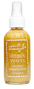 Captain Blankenship Golden Waves Sea Salt Shimmer Spray 4 oz.