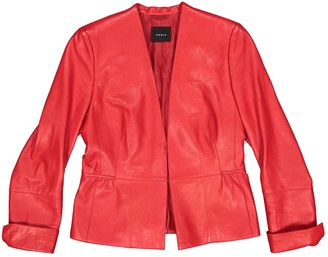 Akris Red Leather Leather jackets