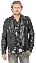 GUESS Men's Long Sleeve All Aces Moto Jacket
