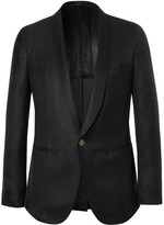 Caruso Black Slim-Fit Cashmere and Silk-Blend Tuxedo Jacket