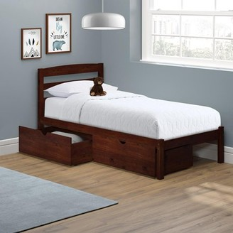 P'kolino Twin Bed with Storage Drawers, Dark Cherry