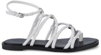 Rebecca Minkoff Sarle Leather-Strap Sandal Flats