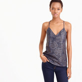 J.Crew Collection Carrie cami in laser-cut leather